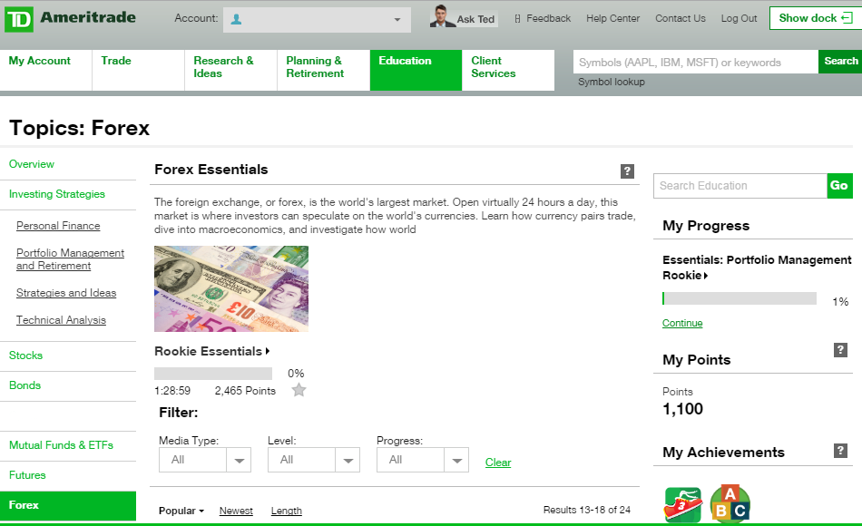 Does td ameritrade do binary options