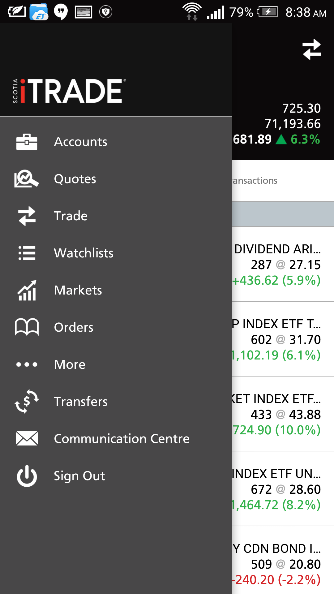Scotia iTrade Mobile Trading