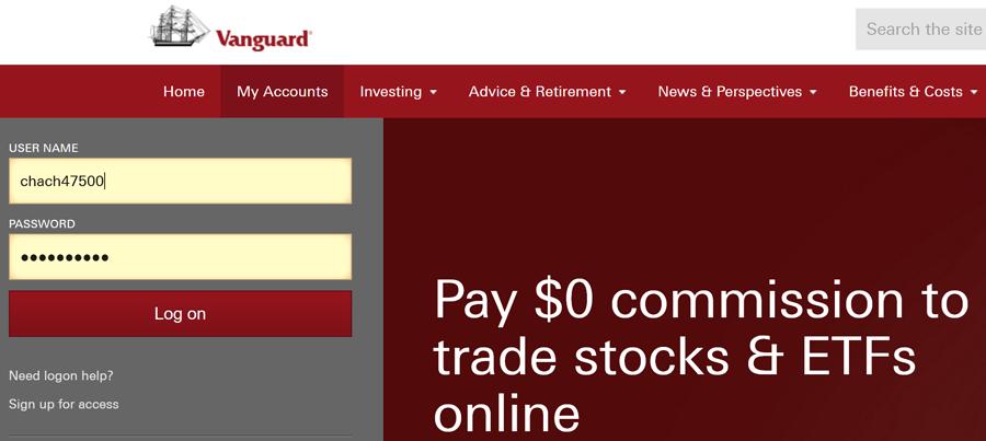 Self Directed Ira Fidelity >> Vanguard Login. Vanguard.com Client Account Sign In