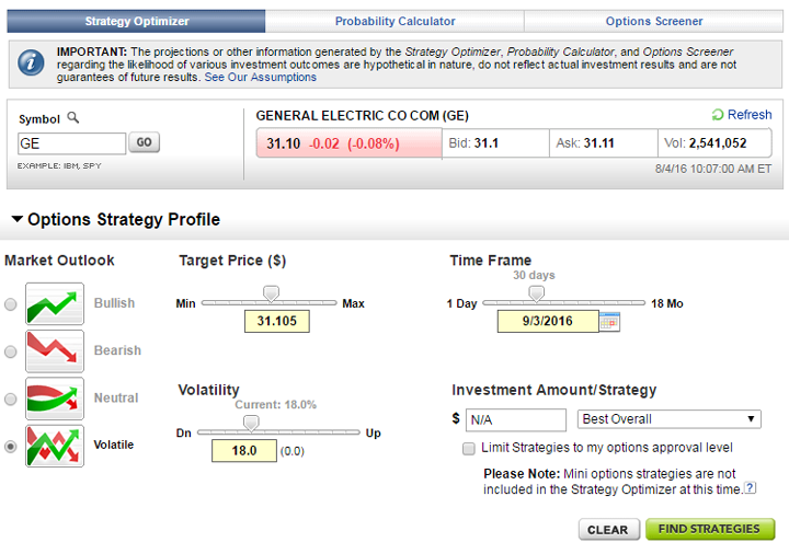 Etrade options trading cost