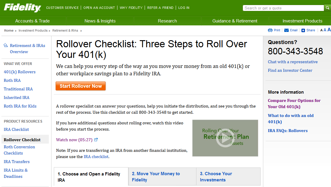 401k Rollover To Fidelity Ira Account Fees Cost Offer 2018