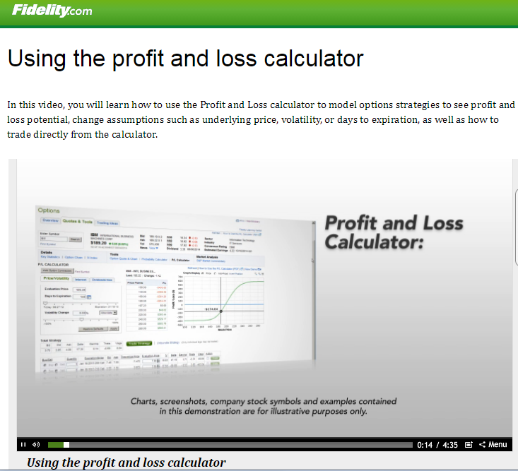 Option trading calculator software
