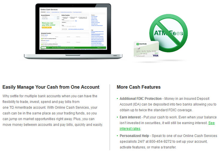 TD Ameritrade Cash Management Account Review, Interest Rate 2019