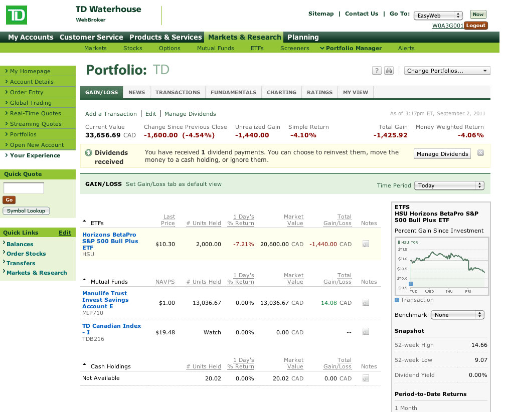 TD Waterhouse Reviews