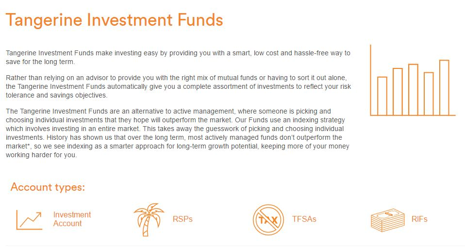 Tangerine Tax Free Investment Funds