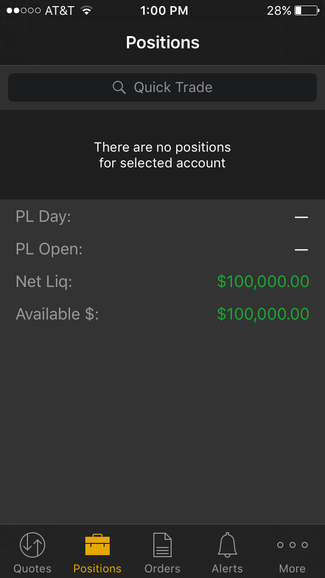 Free options paper trading account