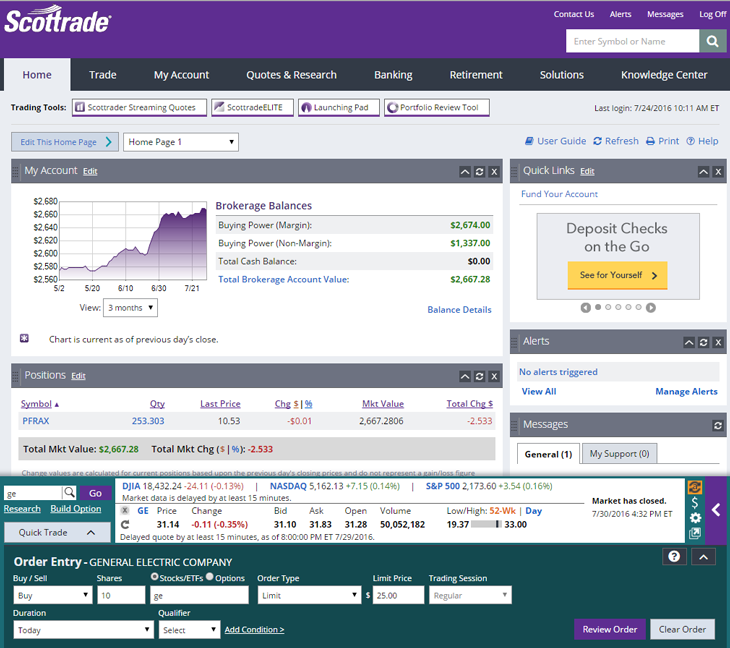 Scottrade Review: Investing