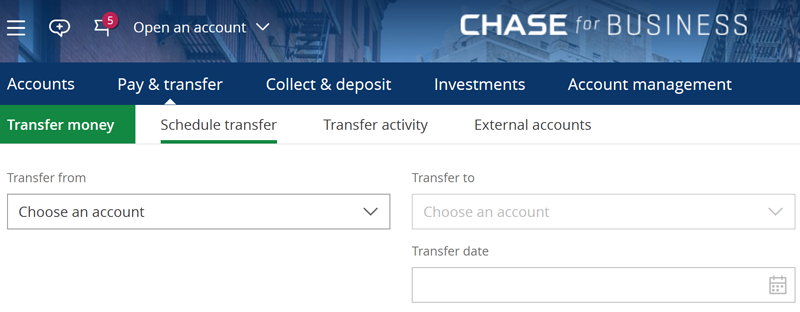 Chase Investment Account Withdrawals