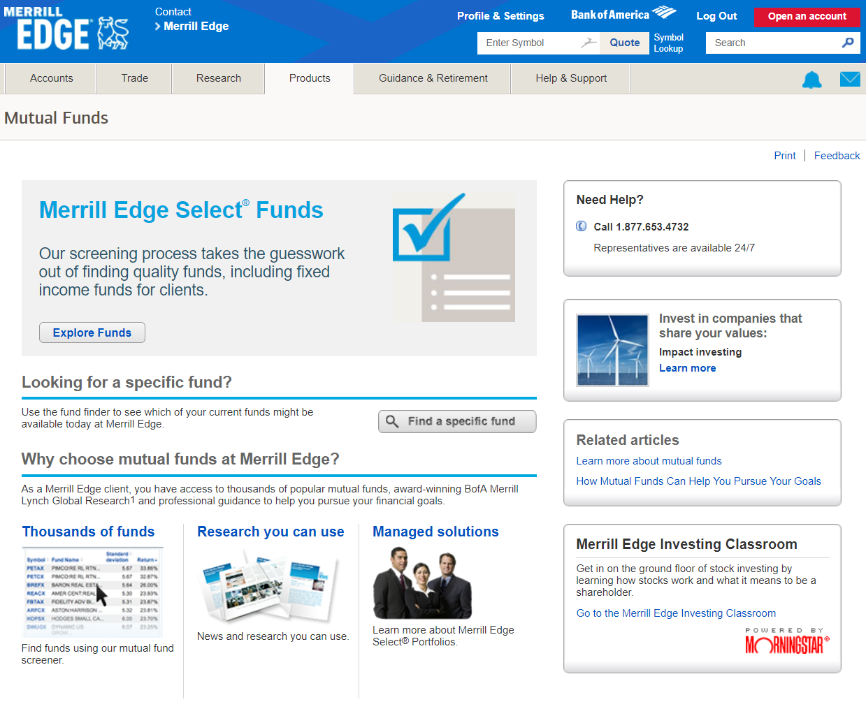 Merrill Edge Review: Mutual Funds