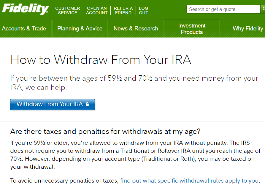 How to Withdraw Money from an IRA at Top Online Brokerage Firms